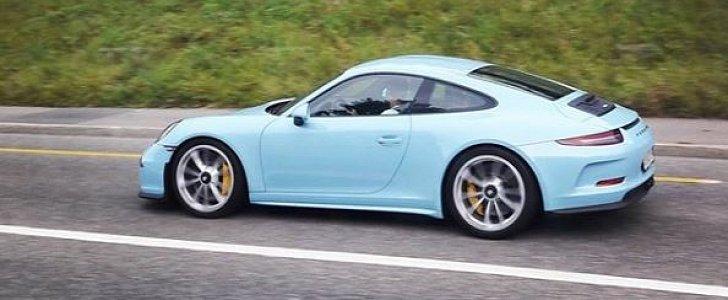 Gulf Blue Porsche 911 R Is A Stripeless Sensation In
