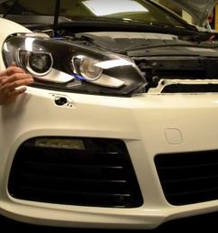 how to install a golf r bumper on a mk6 gti [ 1905 x 916 Pixel ]