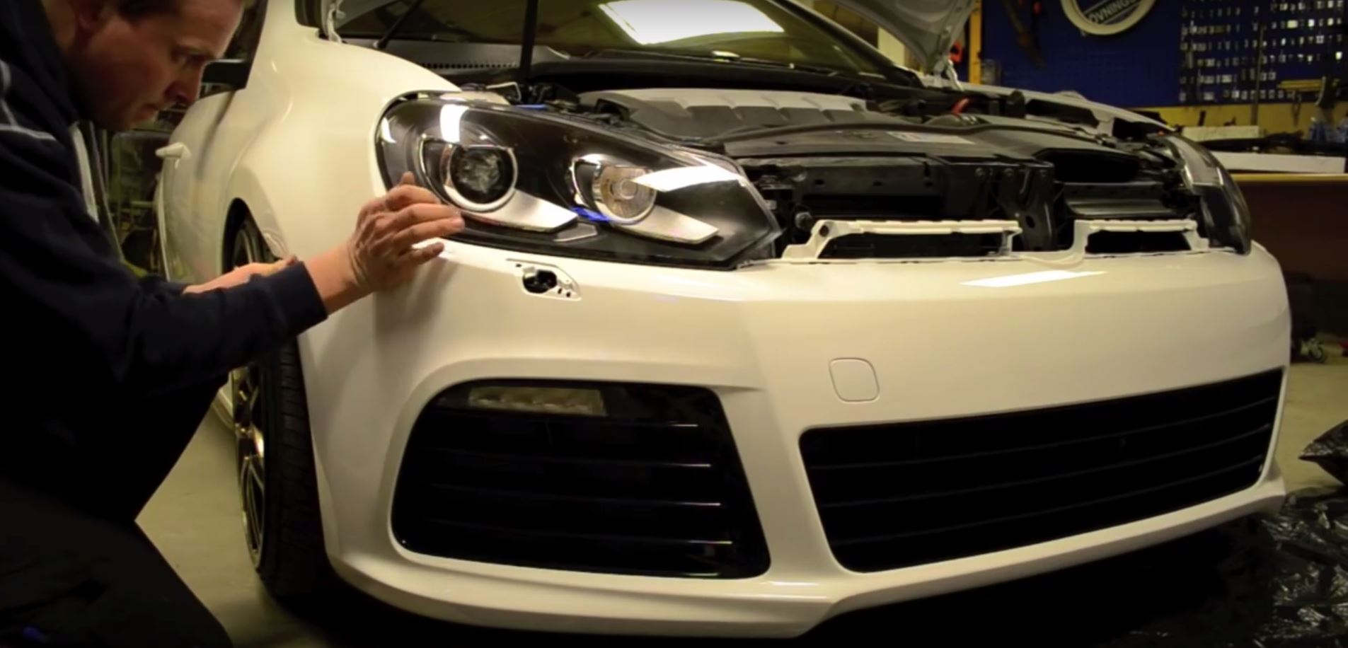 hight resolution of how to install a golf r bumper on a mk6 gti