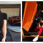 Kylie Jenner Sits On Ferrari 488 Spider With Aventador Sv Behind Autoevolution
