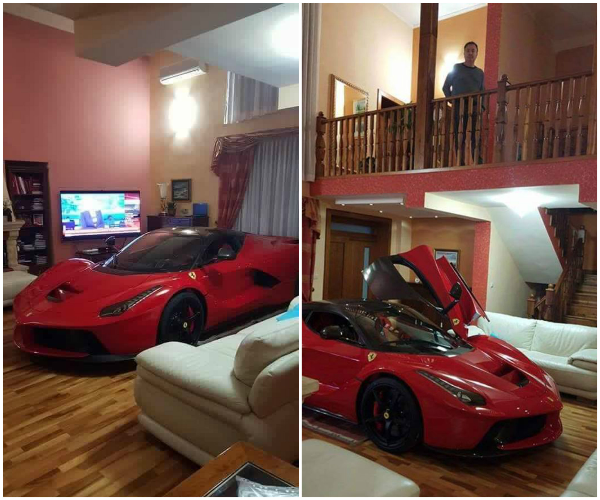 Updated LaFerrari Owner Keeps His Car in the Living Room