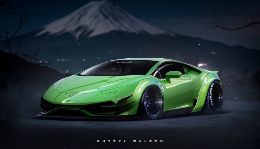 Lamborghini Huracan Touched by Extreme Japanese Tuning in ...