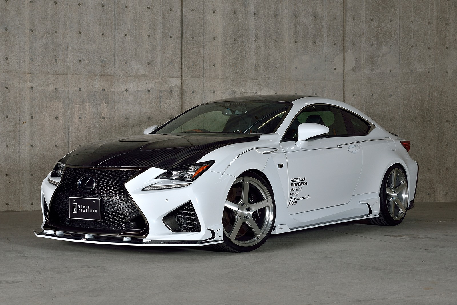 lexus rc f tuned by rowen japan with carbon parts and titanium exhaust autoevolution