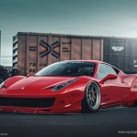 Liberty Walk Ferrari 458 Italia On Pur Wheels Italian Cuisine Served Raw Autoevolution