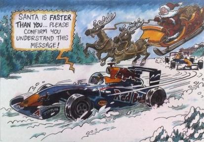 Red Bull Christmas Card Mocks Ferrari Autoevolution