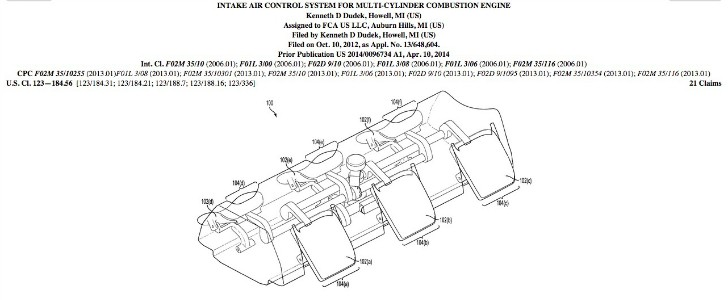 Scoop: Chrysler Files Patent for New Intake Air Control