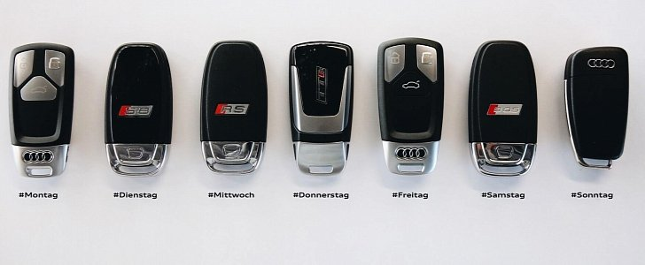 Seven Audi Car Keys One for Each Day of the Week  autoevolution