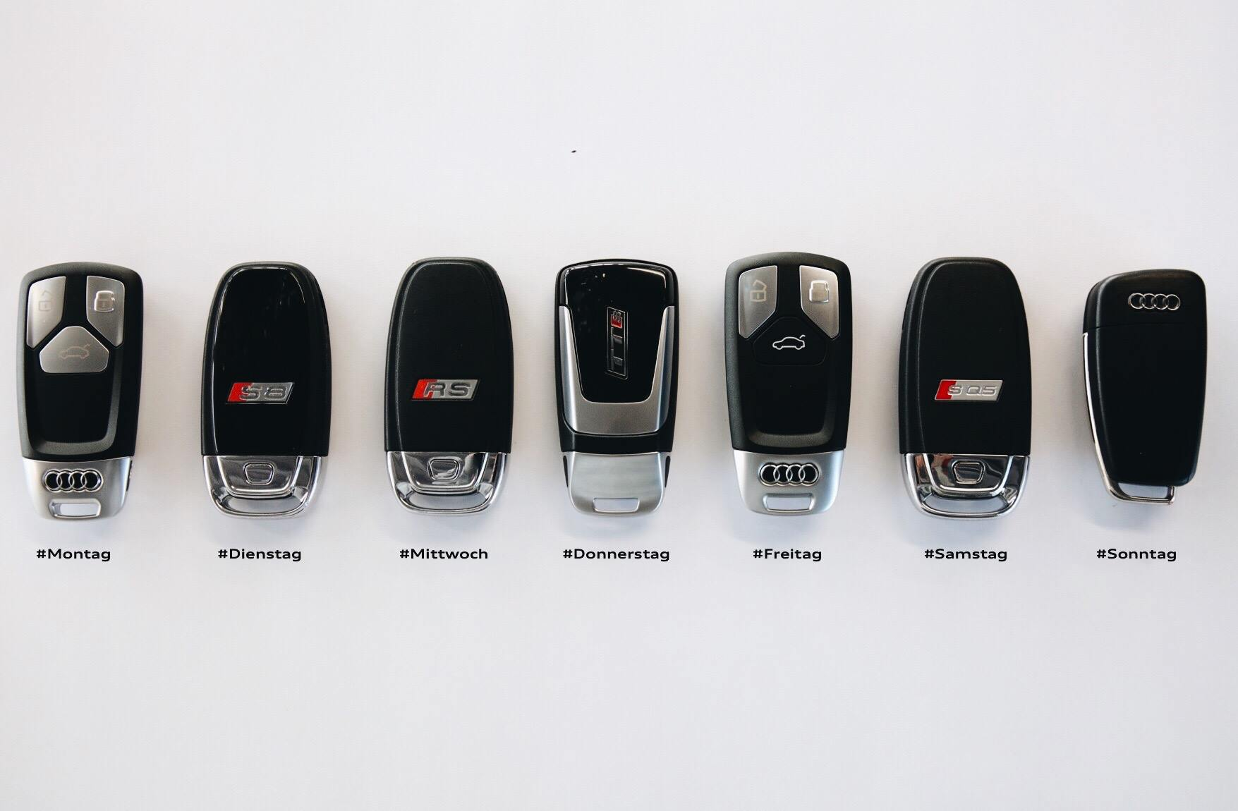hight resolution of seven audi car keys one for each day of the week