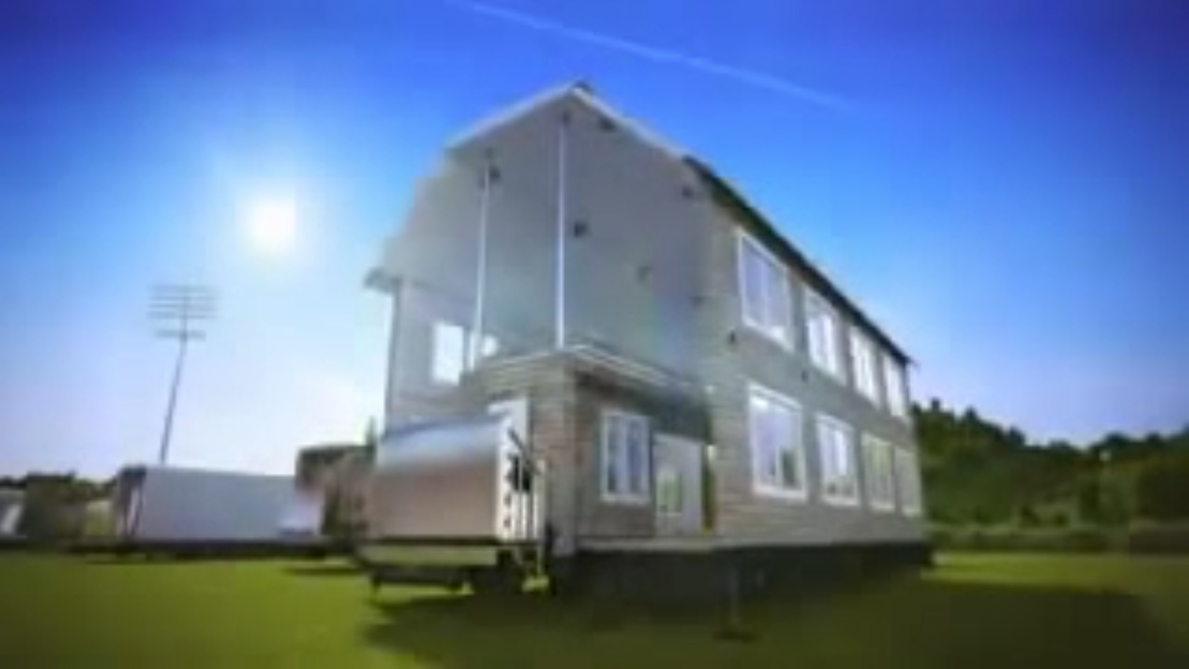 Best Kitchen Gallery: Shipping Containers Fold Out Into Two Story Houses In This Highly of Shipping Container Mobile Home  on rachelxblog.com