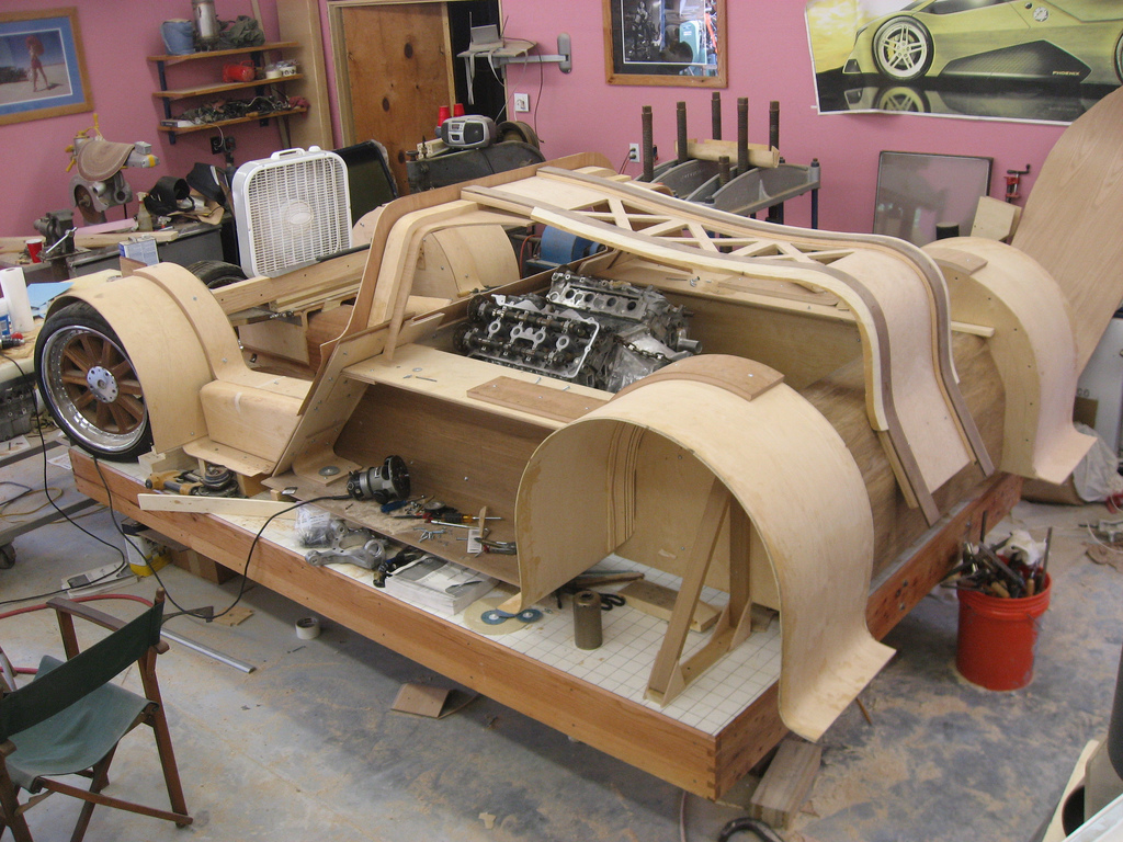 Tree Killing Wood Supercar Is Coming Along Nicely