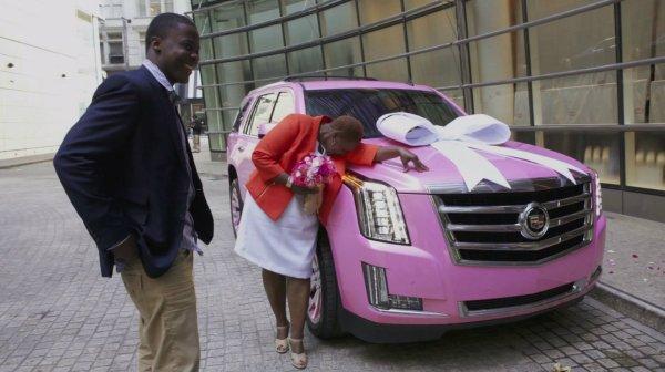 Pink Cadillac Escalade Suv Car Interior Design