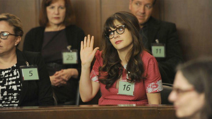 Zooey Deschanel jury duty