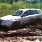 Subaru Forester Awd Off Road Test Drive In Deep Mud Video Dailymotion