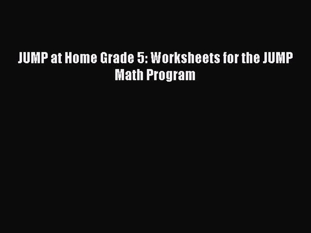 medium resolution of Read JUMP at Home Grade 5: Worksheets for the JUMP Math Program PDF - video  Dailymotion