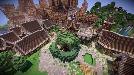 NewHeaven Minecraft Timelapse Ep 3 Lothaven Medieval City video dailymotion