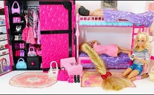 Barbie Ken Rapunzel Bunkbed Bedroom Morning Routine For Cute766