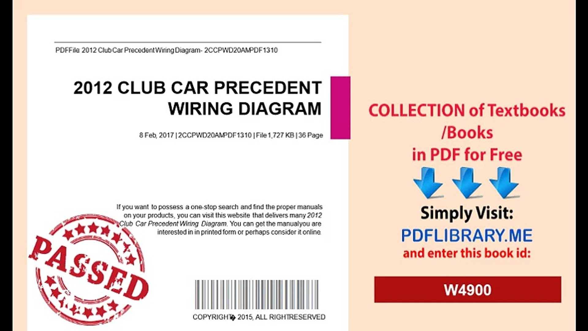 hight resolution of 2012 club car precedent wiring diagram video dailymotion mix wiring diagram for precedent 11