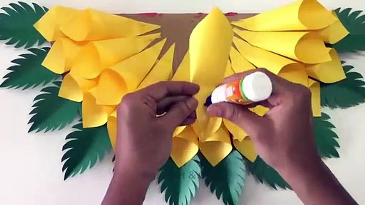 Paper Wall Hanging Diy Paper Sunflower Wall Hanging Ideas Wall Decor Ideas Video Dailymotion