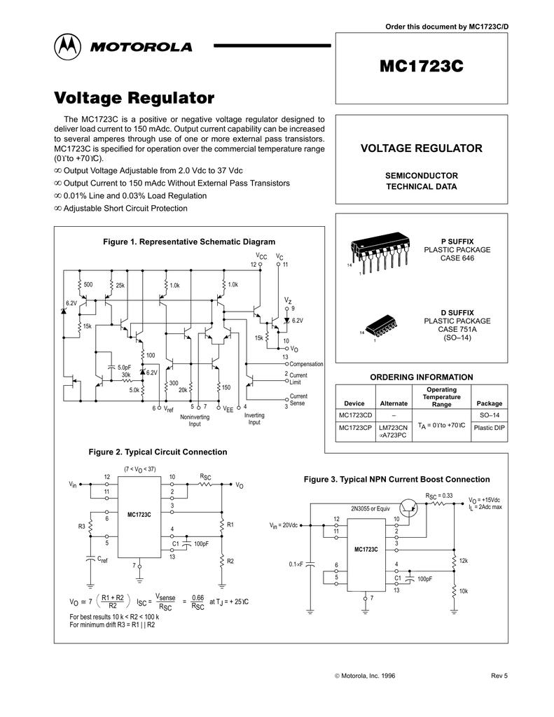 medium resolution of motorola mc1723cp vw voltage regulator wiring diagram motorola r2 regulator wiring diagram