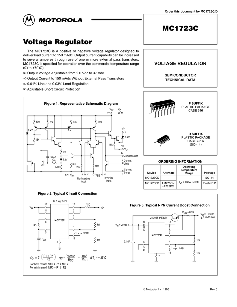 hight resolution of motorola mc1723cp vw voltage regulator wiring diagram motorola r2 regulator wiring diagram
