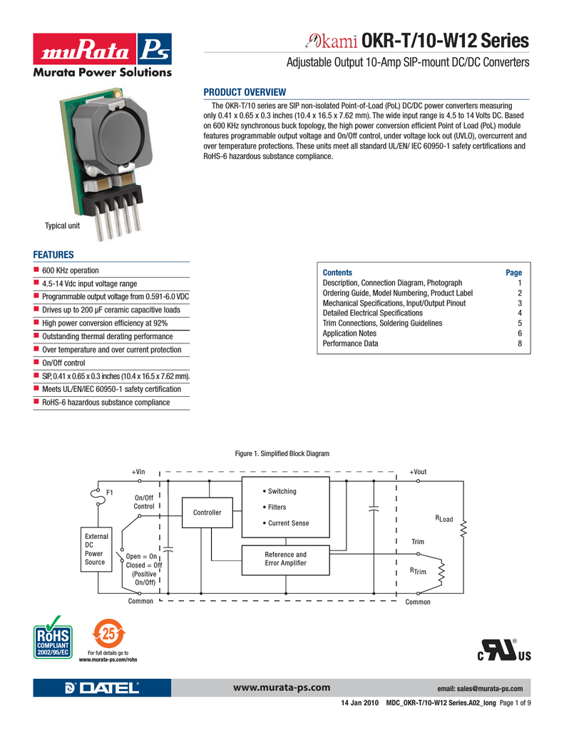 medium resolution of murata okr t 10 w12okr t 10 wiring diagram 14