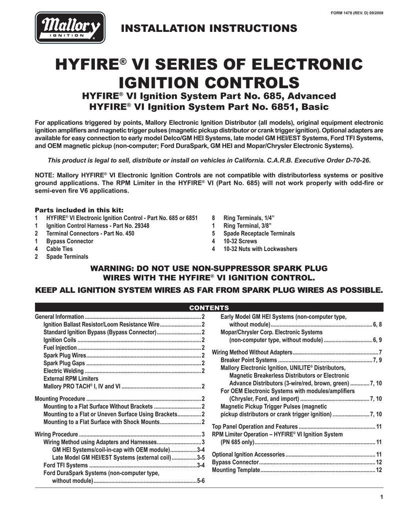 hight resolution of duraspark ii electronic ignition conversion wiring diagram