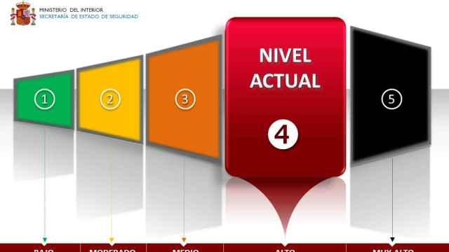 España se encuentra en el Nivel 4 de alerta antiterrorista.