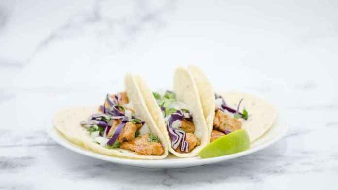 Chicken tacos made from the air. Air Protein