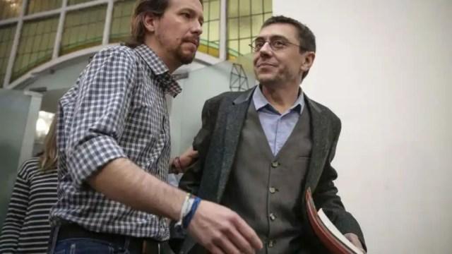 Pablo Iglesias y Juan Carlos Monedero.