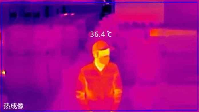 El sistema es capaz de reconocer personas con fiebre.