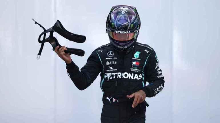 Hamilton in the paddock of the Turkish GP