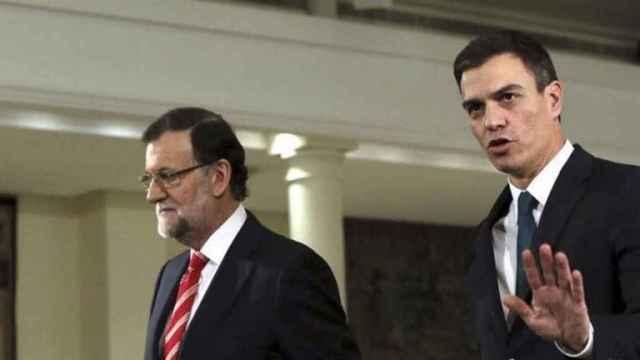 Rajoy y Sánchez, en una imagen de archivo.