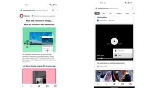 Envío de contenido a través de Opera para Android