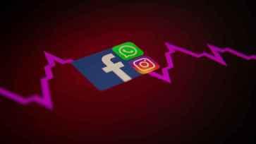 Logos de Facebook, WhatsApp e Instagram