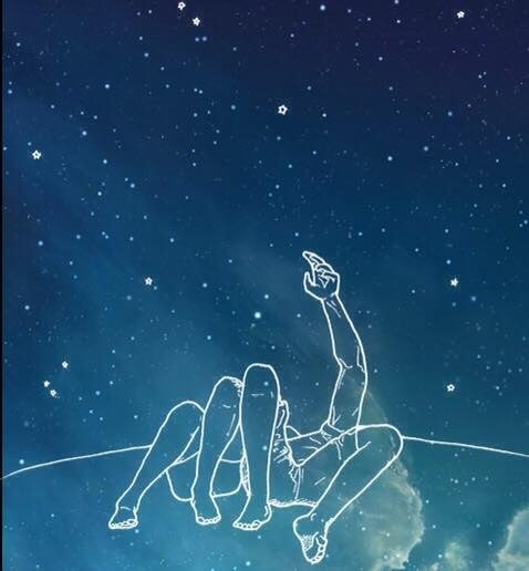 Wallpapers Fofo Cutes Couple Sky Stars Tumblr Wallpaper Image 2892020 By