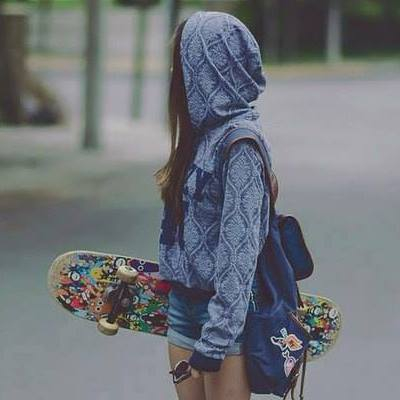 Skater Girl Wallpaper Iphone Hoodie Mystery Rucksack Skateboard Tumblr Image