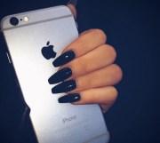 black nail art nails iphone