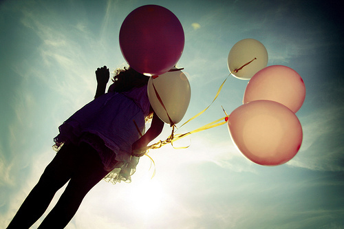 balloons, colors, cute, dress, fashion