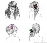 drawing fashion hair hairstyle