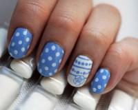 art, blue, cute, nail art, nail polish - image #217522 on ...