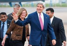 John Kerry lands in India, to hold talks with Sushma Swaraj on Thursday