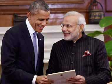 File image of Barack Obama and Narendra Modi. PTI