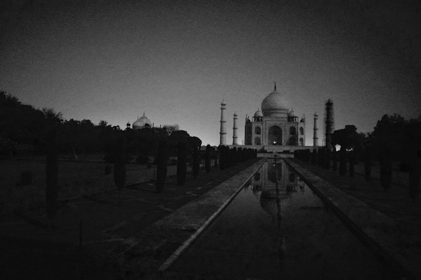 Image result for taj mahal at night