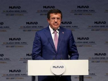 File image of Turkish economy minister Nihat Zeybekci. Getty Images
