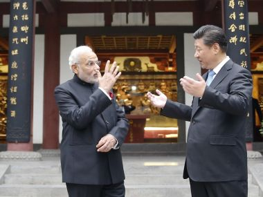 A file image of Prime Minister Narendra Modi with Chinese President Xi Jinping. Getty Images