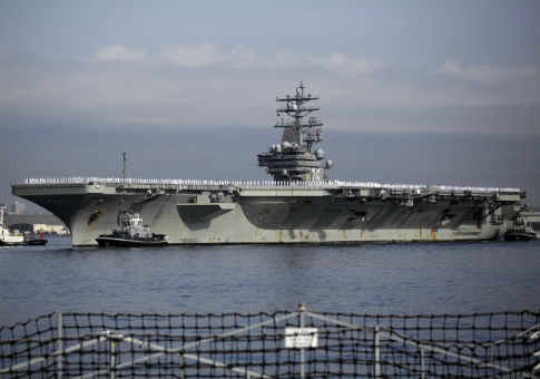 The USS Ronald Reagan / AP
