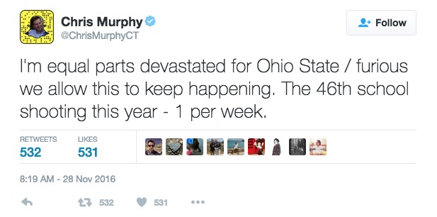 Deleted Senator Chris Murphy (D.,Conn.) Tweet / Google Cache
