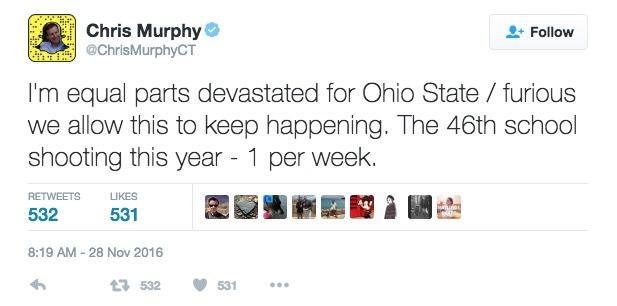 Deleted Senator Chris Murphy (D.,Conn.) Tweet / Google Cache