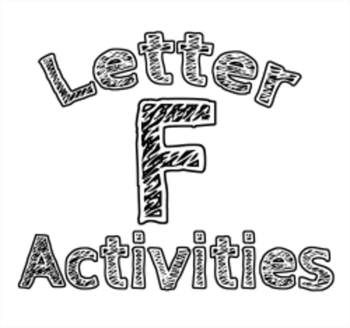 Letter F Alphabet Activities For Kids