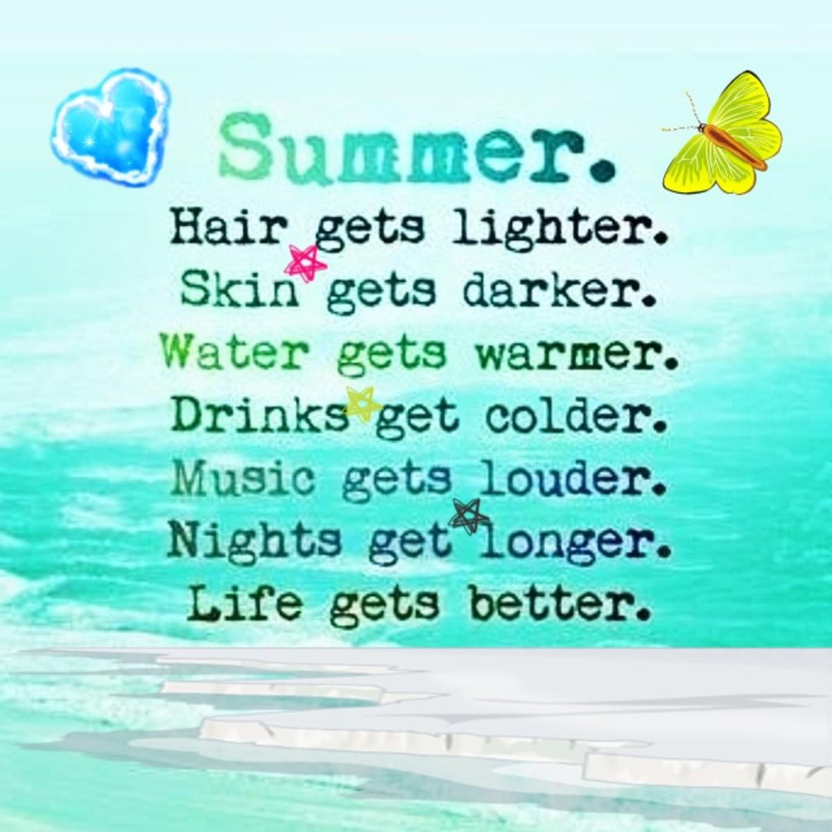 Cute Summer Quotes Quotesgram